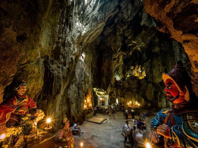 A temple inside a cave in Ngu Hanh Son moutain