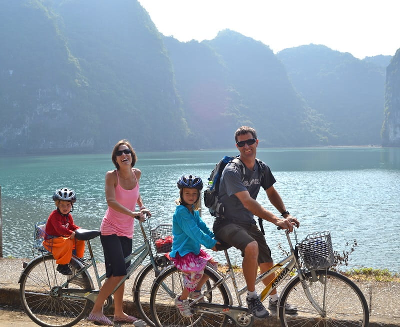 cycling halong bay