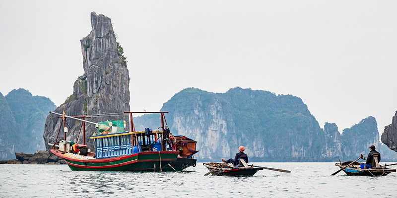 Discovery of Unique Islets in Halong Bay