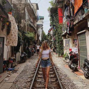 Hanoi Train Street location