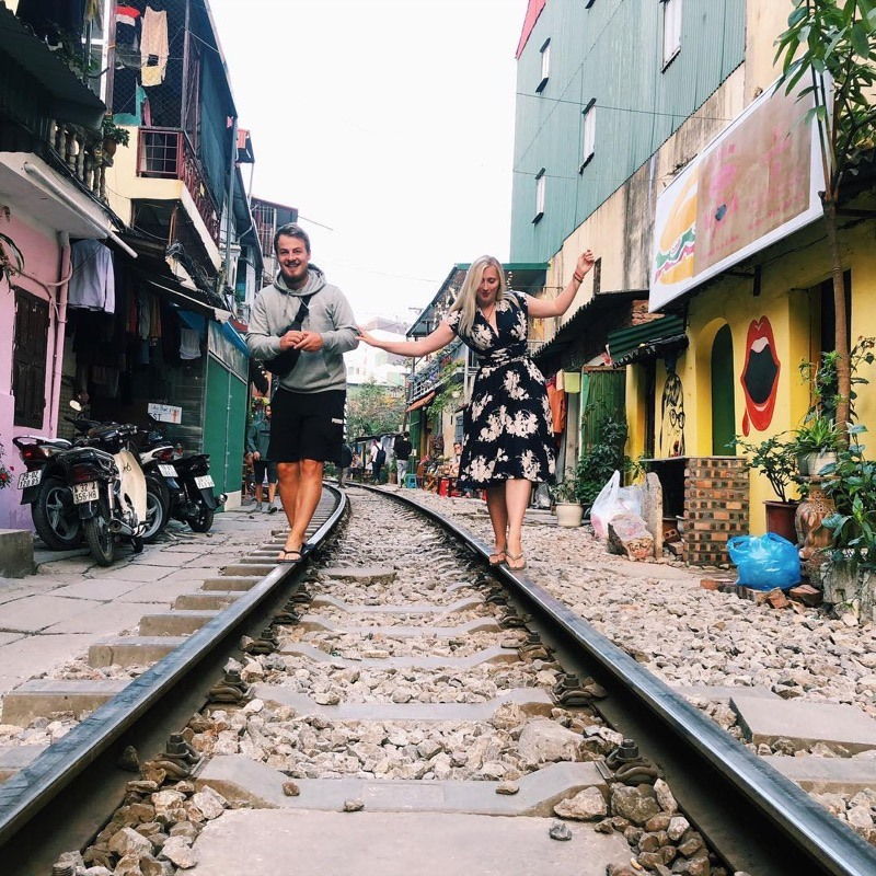 Hanoi train street is a place to discover the local daily life