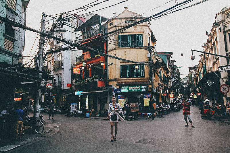 Hien street located right in the heart of Hanoi Old Quater