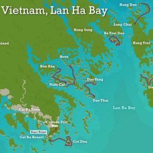 Lan Ha Bay detail map for tourists