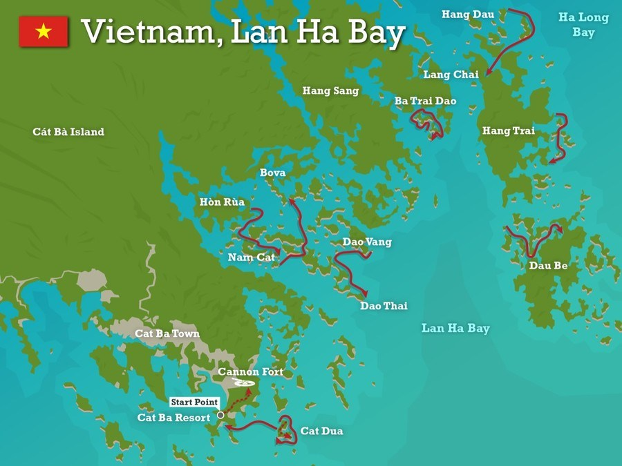 Lan Ha Bay detail map for tourists