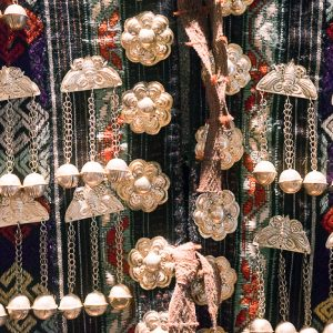 Special jewelry on clothes of ethnic communities