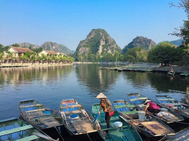 Taking a boat trip through Ninh Binh
