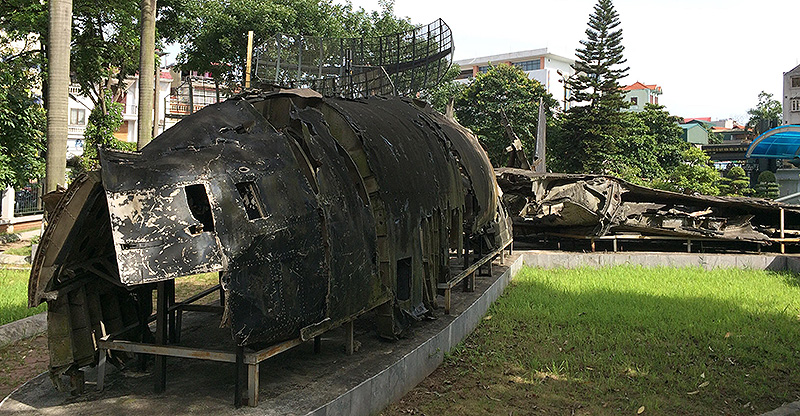 Outdoor display at B52 Museum Hanoi
