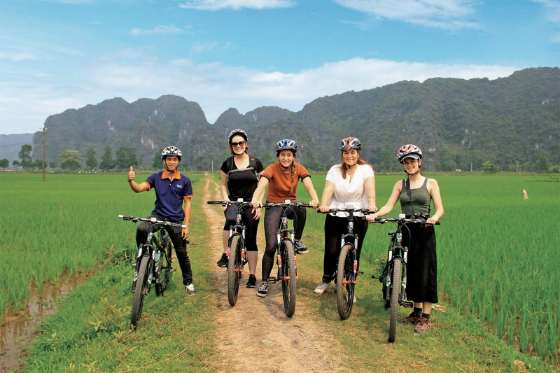 Cycling Along The Roads Of Tam Coc