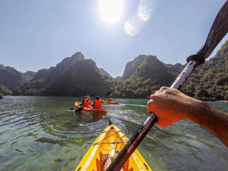 go kayaking in HalongBay