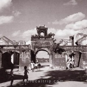 hanoi old city gate in the past