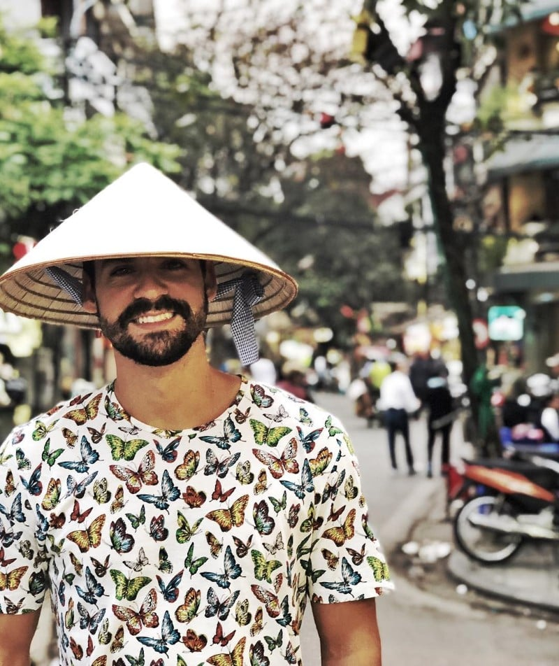 Conical leaf hat is a perfect thing for you to wear in the summer in Hanoi