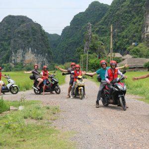 motorbike in ninh binh