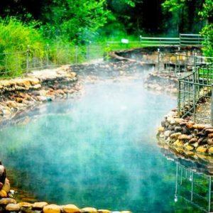 a corner of kenh ga hot spring