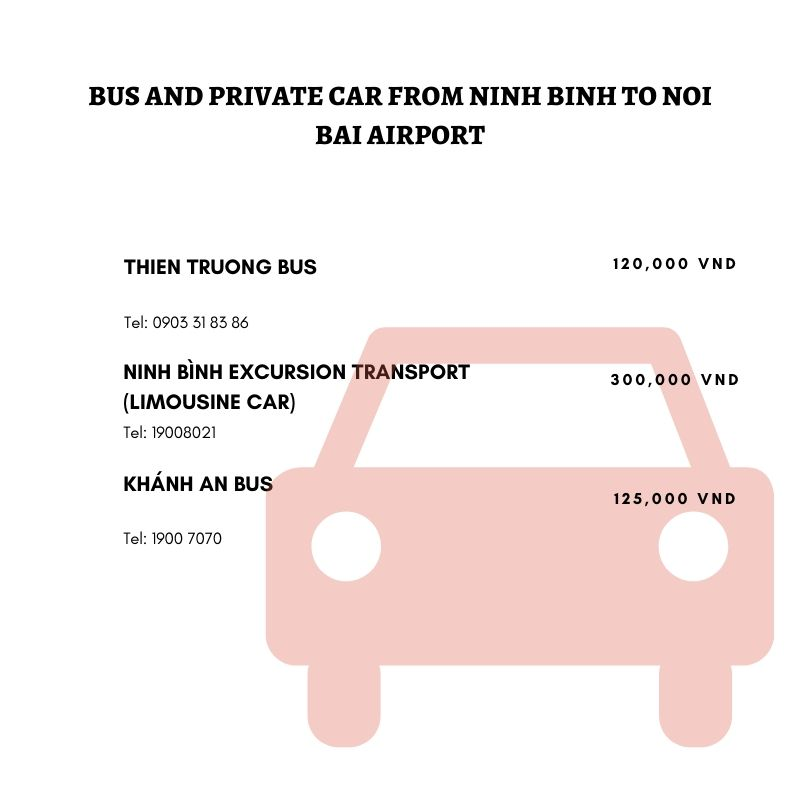 car from ninh binh to noi bai airport